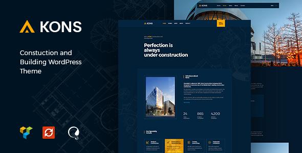قالب Kons - قالب وردپرس ساخت و ساز