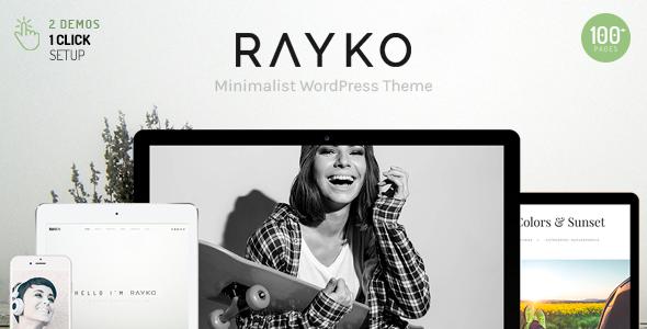 قالب Rayko - قالب وردپرس چند مفهومی مینیمال