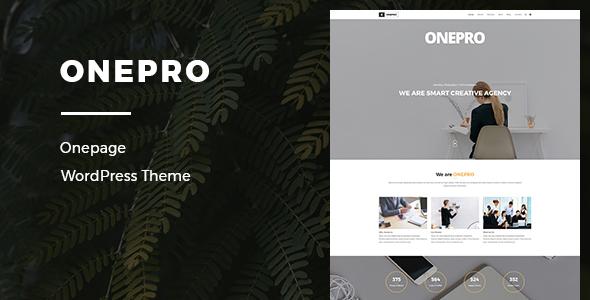 قالب OnePro - قالب تک صفحه ای ریسپانسیو وردپرس