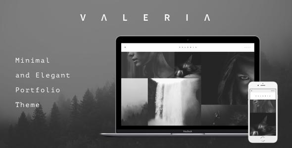 قالب Valeria - قالب وردپرس عکاسی