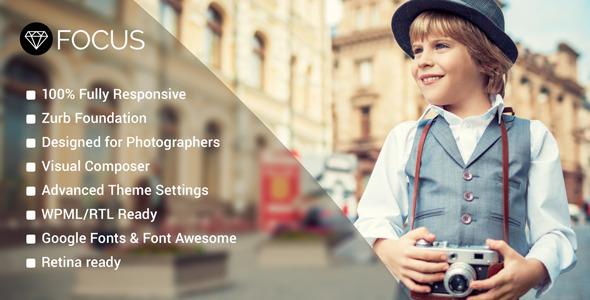 قالب Focus - قالب وردپرس عکاسی