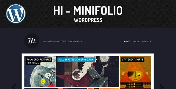 قالب Minifolio - قالب وردپرس