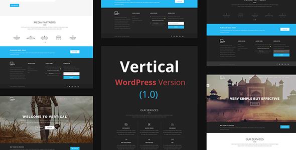 قالب Vertical - قالب وردپرس چند منظوره تک صفحه ای