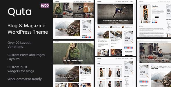 قالب Quta - یک قالب وبلاگ و فروشگاه وردپرس