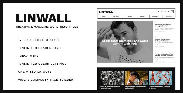 قالب Linwall - قالب وبلاگ وردپرس ریسپانسیو