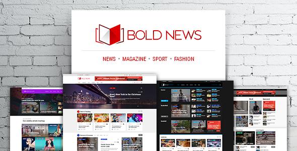 قالب Bold News - قالب مجله خبری و روزنامه