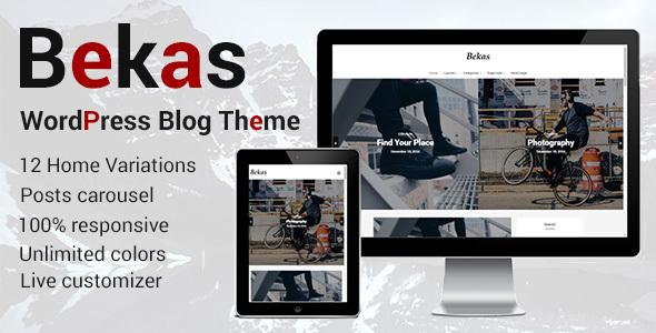 قالب Bekas - قالب وبلاگ وردپرس ریسپانسیو