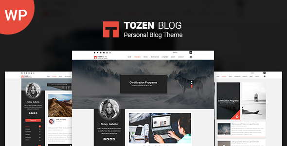 Tozen - قالب وبلاگ وردپرس شخصی