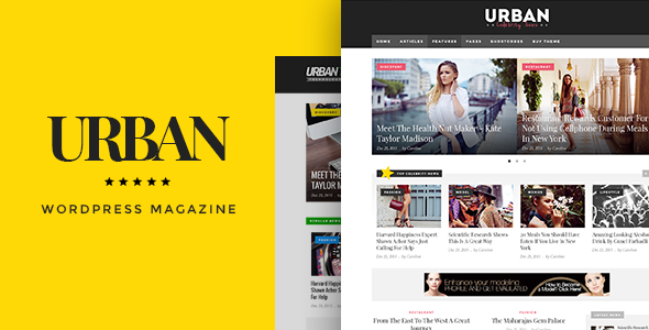 قالب Urban - قالب مجله ریسپانسیو