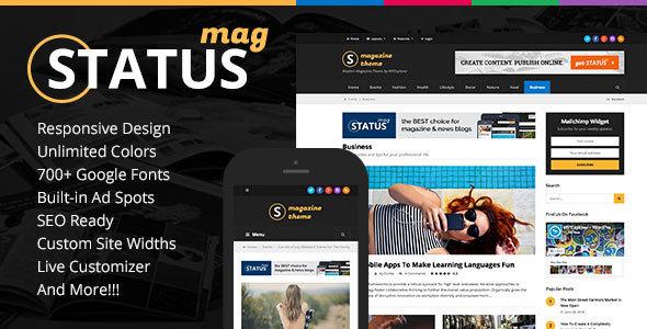 قالب Status - قالب وردپرس مجله