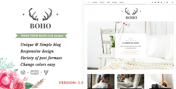 قالب Bohopeople - قالب وبلاگ وردپرس شخصی