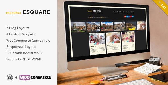قالب Esquare - قالب وبلاگ وردپرس ریسپانسیو