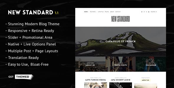 قالب New Standard - قالب وبلاگ وردپرس