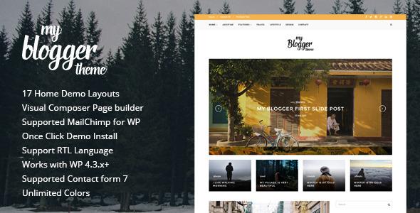 Myblogger - قالب وبلاگ وردپرس ریسپانسیو
