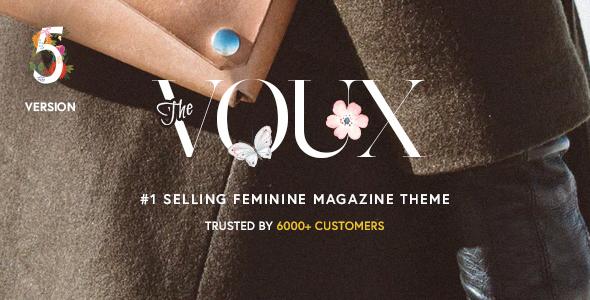 قالب The Voux - یک قالب کامل مجله