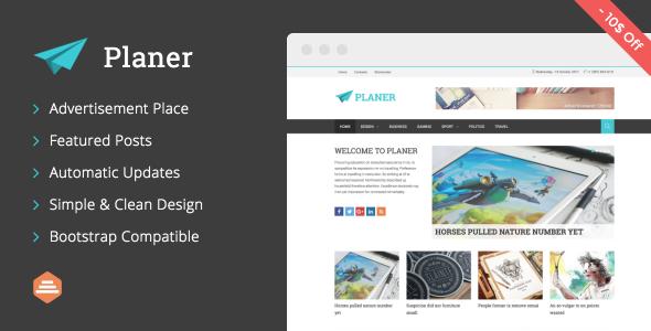 قالب Planer - قالب ریسپانسیو مجله برای وردپرس