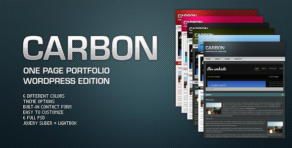 قالب Carbon One Page Portfolio - قالب وردپرس