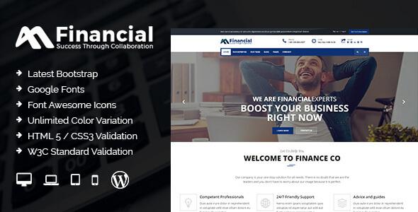 قالب Financial - قالب وردپرس مالی و کسب و کار