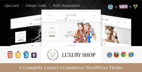 Luxury - قالب وردپرس ووکامرس