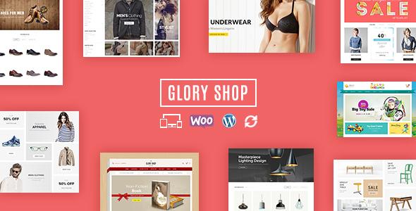 قالب Glory Shop - قالب ووکامرس چند منظوره