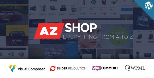 قالب AzShop - قالب وردپرس ووکامرس