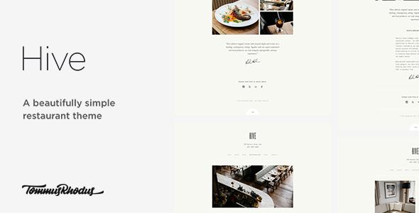قالب Hive - قالب وردپرس رستوران و کافه
