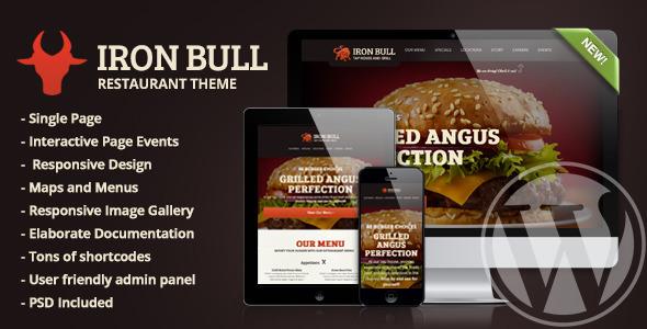 Iron Bull - قالب وردپرس رستوران