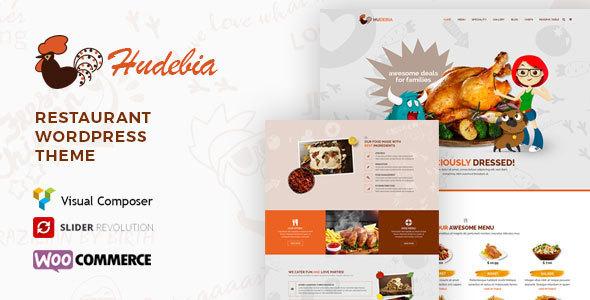 قالب Hudebia - قالب وردپرس رستوران