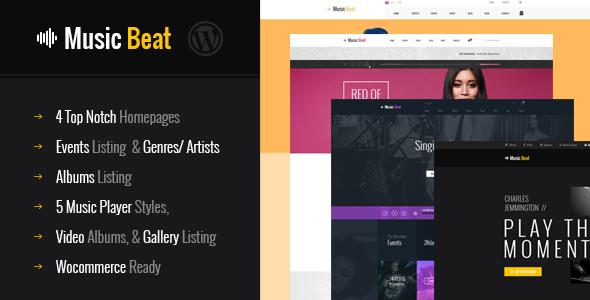قالب MusicBeat - قالب وردپرس گروه های موسیقی، موسیقی دانان و دی جی ها