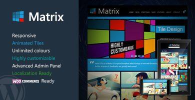 قالب ماتریکس | Matrix - قالب وردپرس ریسپانسیو