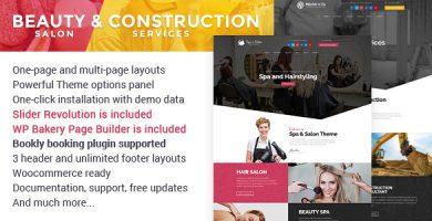 Beauty Salon & Construction Services - قالب وردپرس