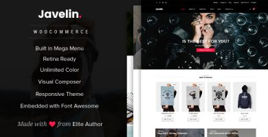 جولین | Javelin - قالب وردپرس فروشگاهی