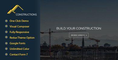 قالب Constructions - قالب وردپرس کسب و کار