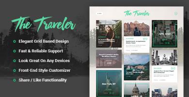 قالب The Traveler - قالب وبلاگ وردپرس ریسپانسیو