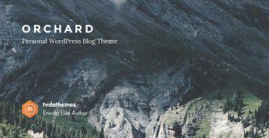 قالب Orchard - قالب وبلاگ وردپرس شخصی