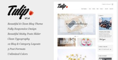 قالب لاله | Tulip - قالب وبلاگ وردپرس ریسپانسیو
