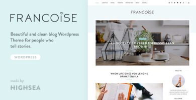 قالب فرانکوئیز | Francoise - قالب وبلاگ وردپرس شخصی