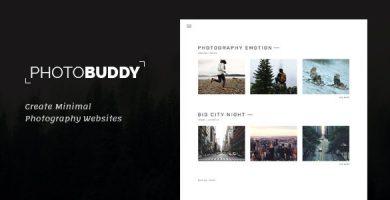 قالب PhotoBuddy - قالب وردپرس عکاسی
