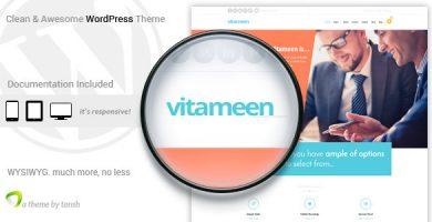قالب ویتامین | Vitameen - قالب وردپرس کسب و کار ریسپانسیو