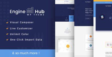 قالب انجین هاب | Engine Hub - قالب وردپرس بازاریابی