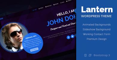 قالب لنترن | Lantern - قالب نمونه کار و رزومه شخصی