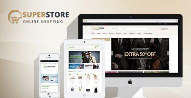 قالب ابر فروشگاه | SuperStore - قالب وردپرس ووکامرس