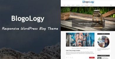 قالب Blogology - قالب وبلاگ وردپرس ریسپانسیو