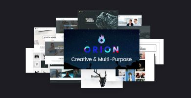 قالب Orion - قالب وردپرس چند منظوره خلاقانه