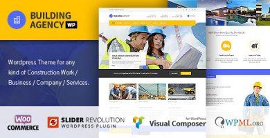 قالب Building Agency - قالب وردپرس ساخت و ساز
