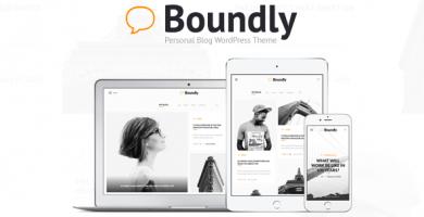 قالب باندلی | Boundly - قالب وبلاگ وردپرس شخصی