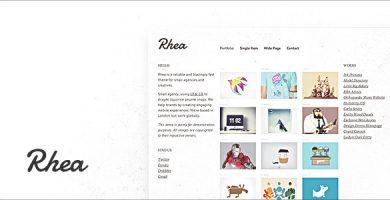قالب ریا | Rhea - قالب وردپرس