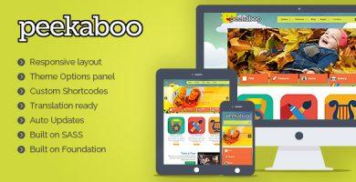 پیکابو | Peekaboo - قالب وردپرس مهد کودک