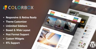 قالب کالرباکس | Colorbox - قالب وبلاگ وردپرس ریسپانسیو