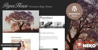 قالب پیپرهاوس | Paperhouse - قالب وردپرس وبلاگ